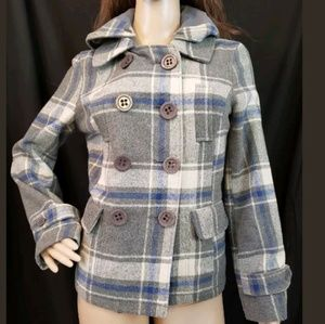 Gray Hooded Jacket size S